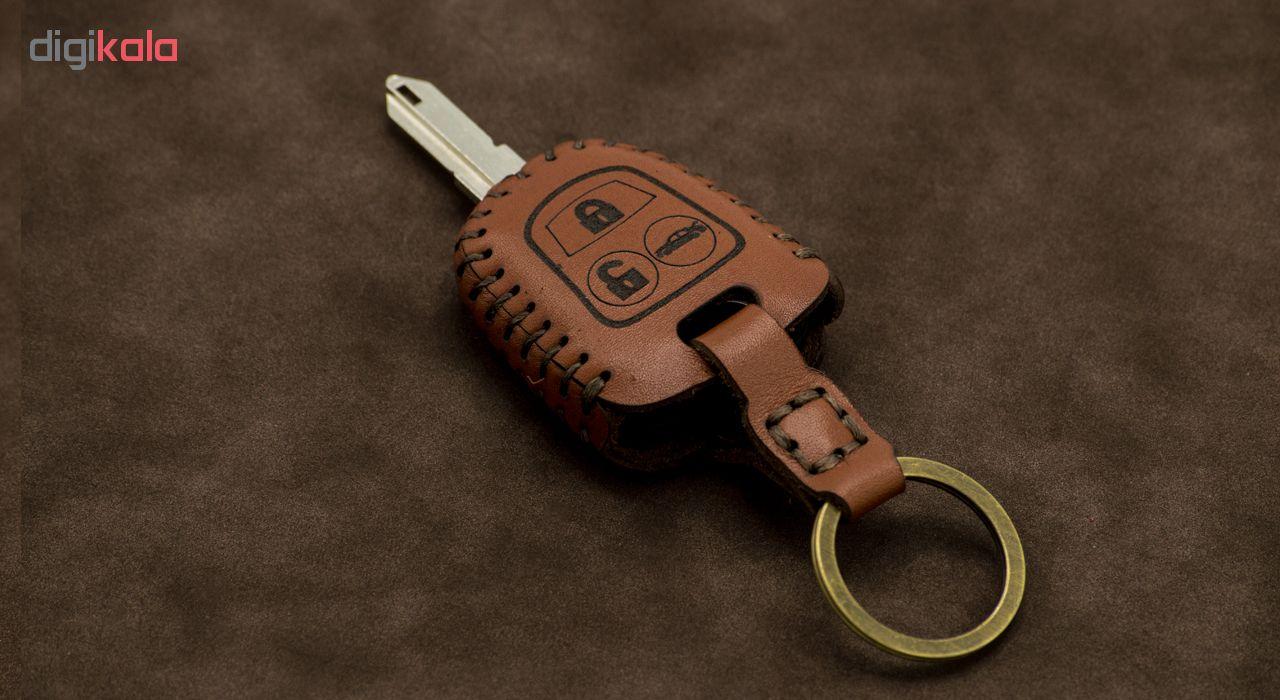 جاسوئیچی خودرو چرم طبیعی کد ct-043 مناسب برای سمند دنا رانا (عرضه کالا)