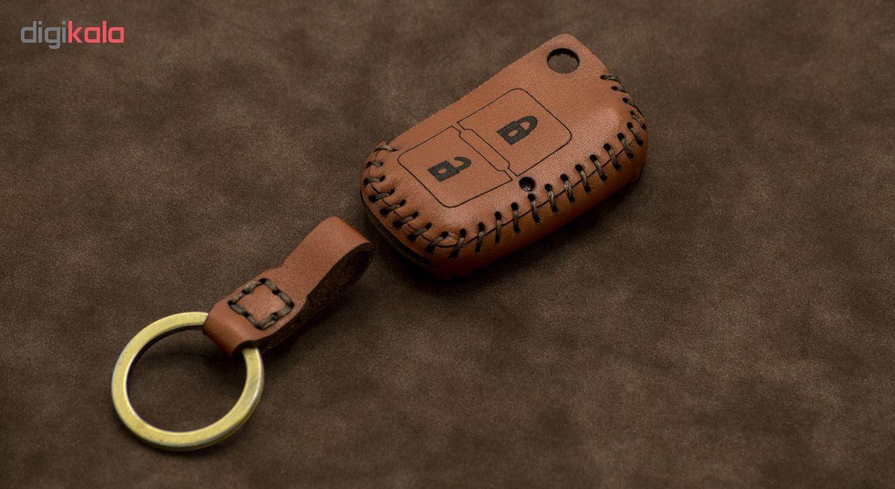 جاسوئیچی خودرو چرم طبیعی کد ct-083 مناسب برای پژو پارس 405، روآ (عرضه کالا) main 1 1