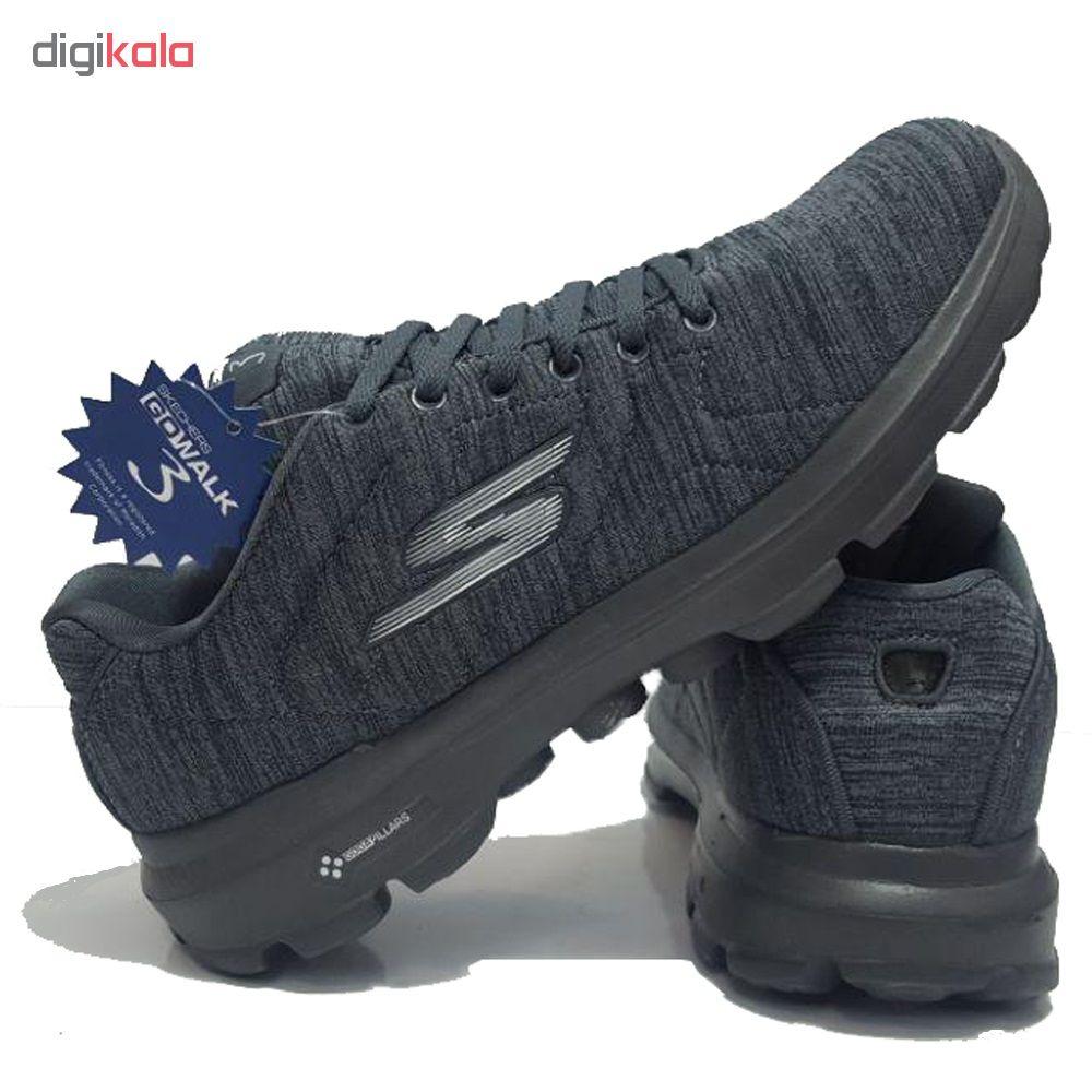 کفش مخصوص پیاده روی مردانه اسکچرز مدل GO WALK 3 PILARS-GREY/SIL