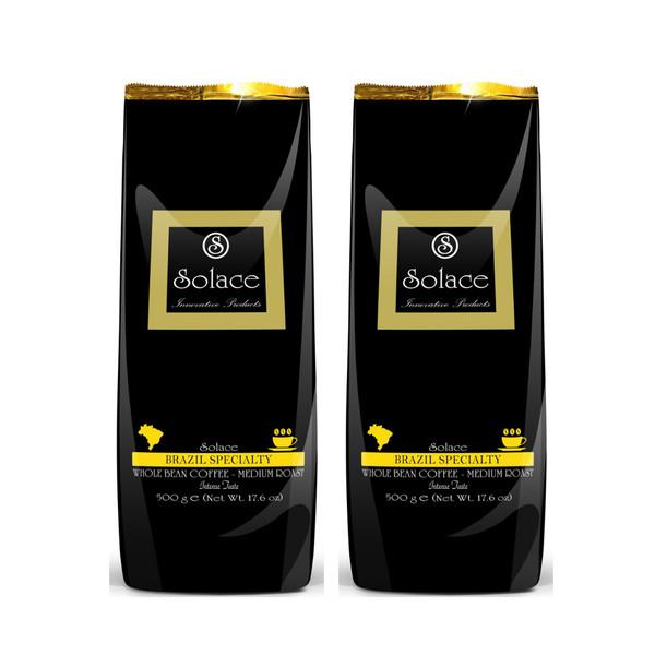 دانه قهوه سولیس مدل BRAZIL SPECIALTY مجموعه 2 عددی