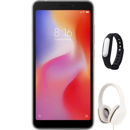 گوشی موبایل می مدل Redmi 6 M1804C3DG دو سیم کارت ظرفیت 64 گیگابایت همراه با مچ بند هوشمند و هدفون می