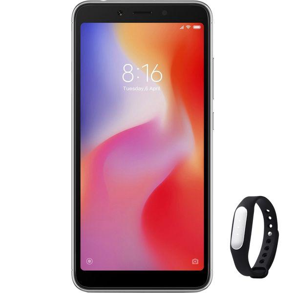 گوشی موبایل می مدل Redmi 6 M1804C3DG دو سیم کارت ظرفیت 64 گیگابایت همراه با مچ بند هوشمند می