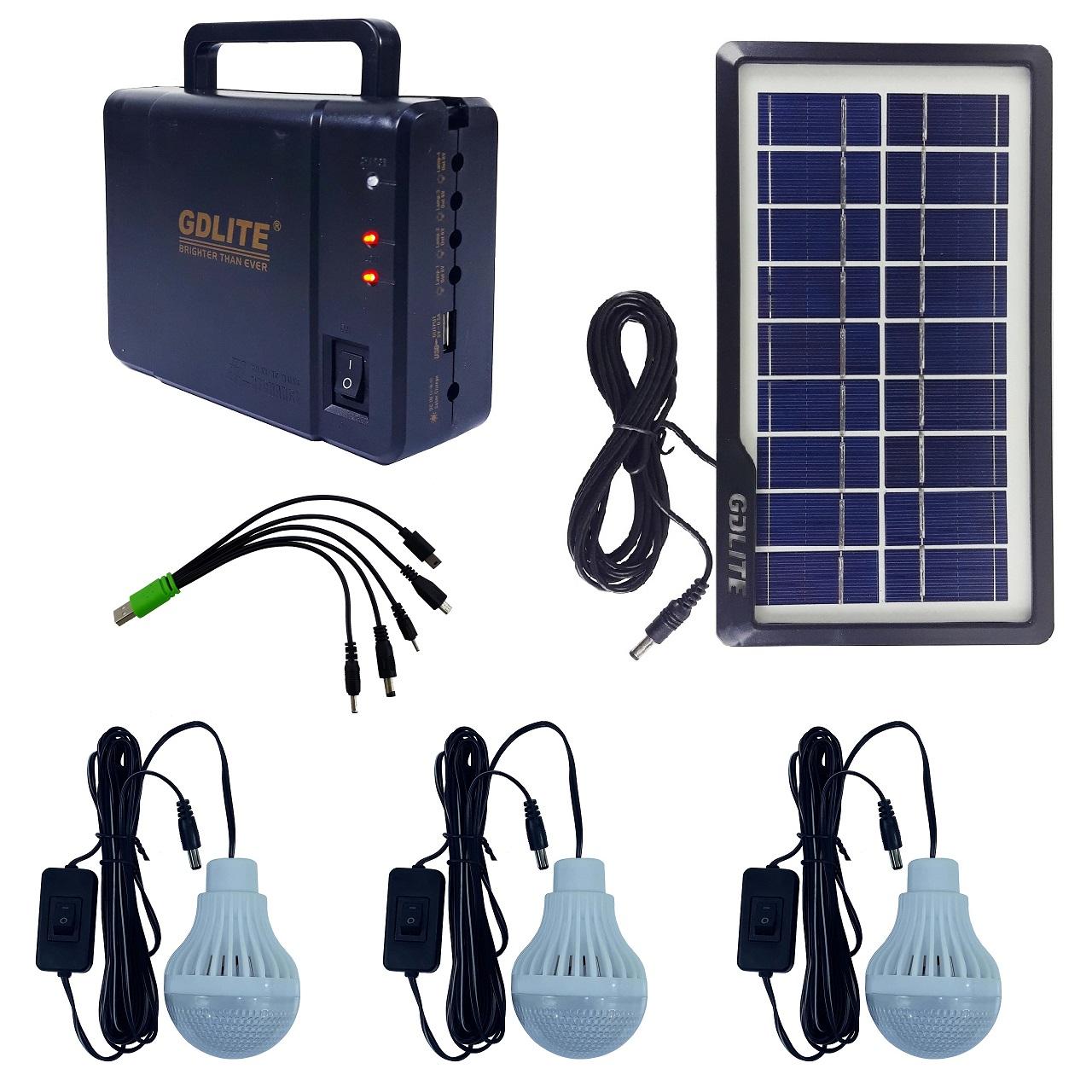 سیستم روشنایی خورشیدی جی دی لایت مدل GD-8006A