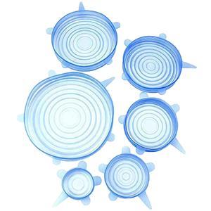 درپوش ظرف مدل سیلیکونی مجموعه 6 عددی