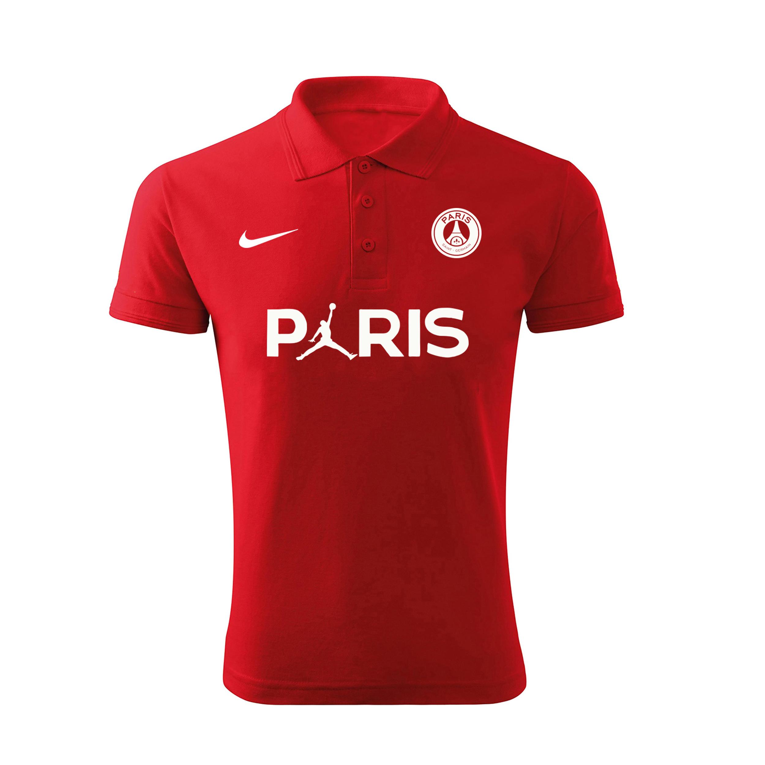 پولوشرت ورزشی مردانه مدل پاریس 5432 رنگ قرمز                     غیر اصل