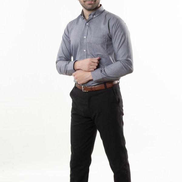 پیراهن آستین بلند مردانه زی سا مدل 1531405ML94