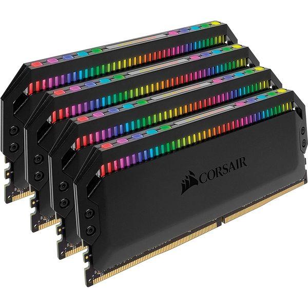 رم دسکتاپ DDR4 چهار کاناله 3600 مگاهرتز CL18 کورسیر مدل Dominator Platinum RGB ظرفیت 64 گیگابایت