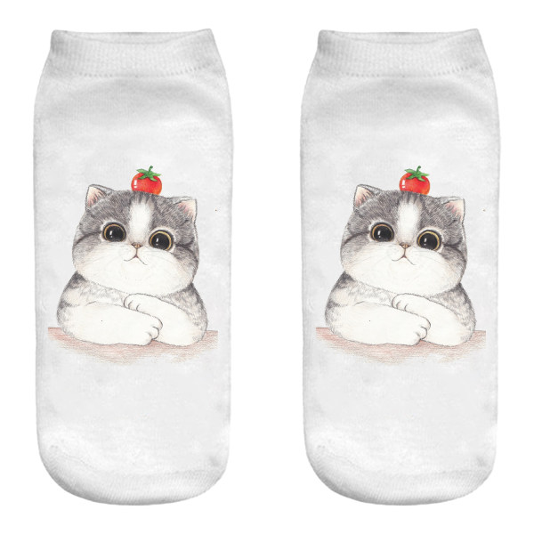جوراب زنانه طرح گربه کد B14