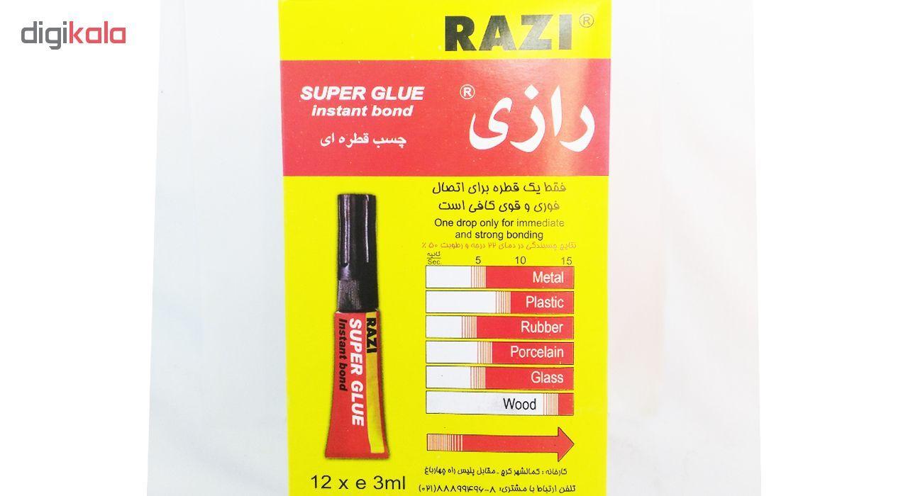 چسب قطره ای رازی مدل Super Glue حجم 3 میلی لیتر بسته 12 عددی main 1 4
