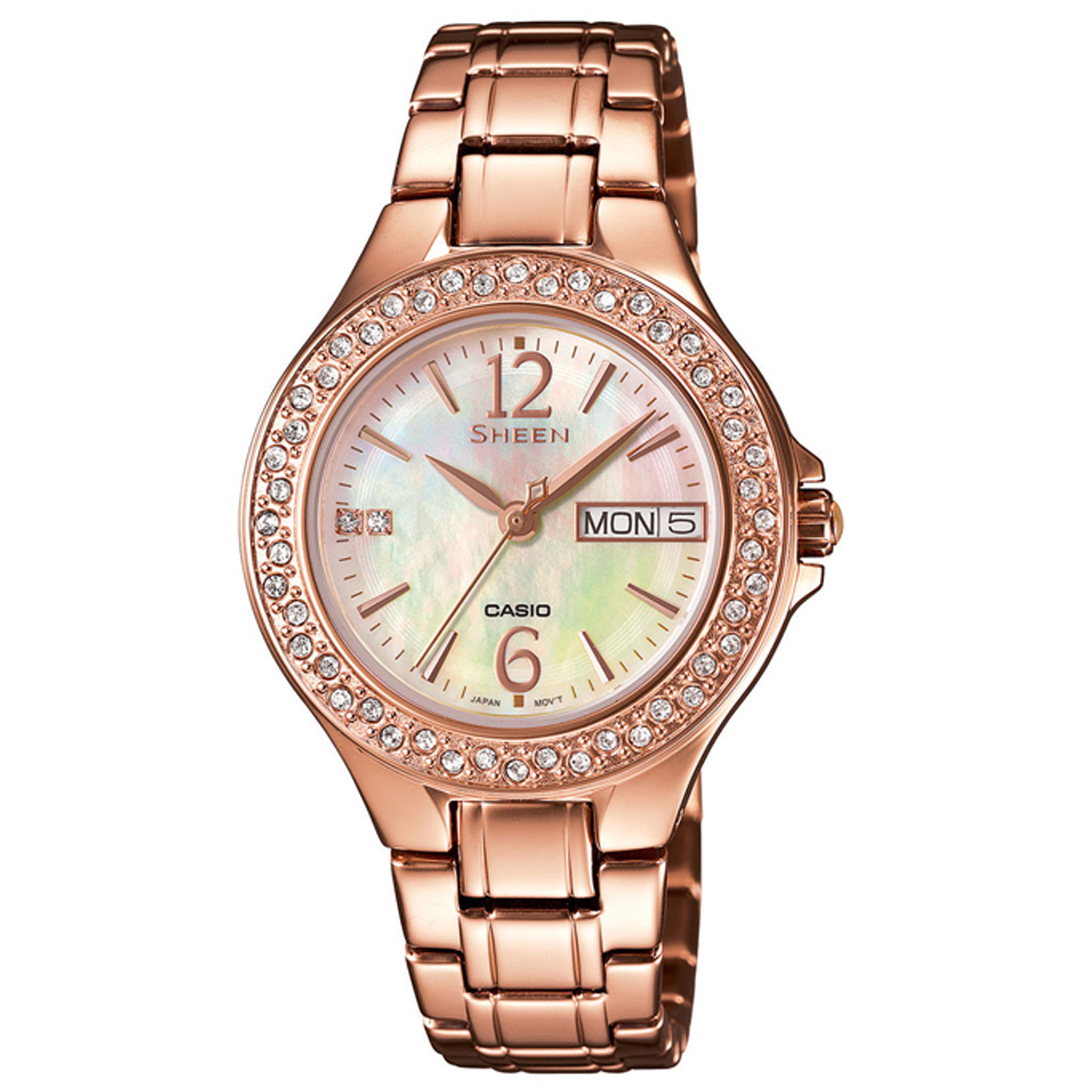 ساعت مچی عقربه ای زنانه کاسیو مدل SHE-4800PG-9AUDR