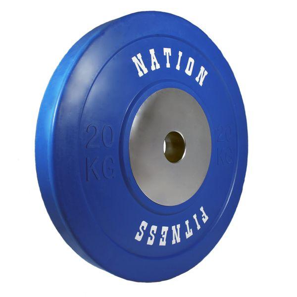 صفحه وزنه نیشن فیتنس مدل Impactor وزن 20 کیلوگرم بسته 2 عددی