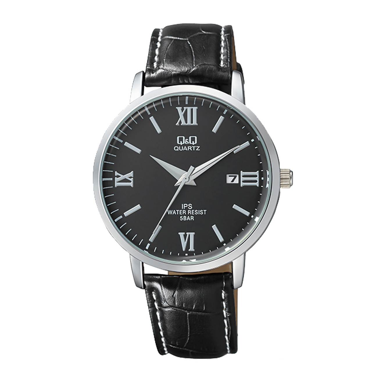 ساعت مچی عقربه ای مردانه کیو اند کیو مدل QZ06J308Y به همراه دستمال مخصوص برند کلین واچ
