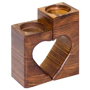 جاشمعی چوبی مدل LOVE