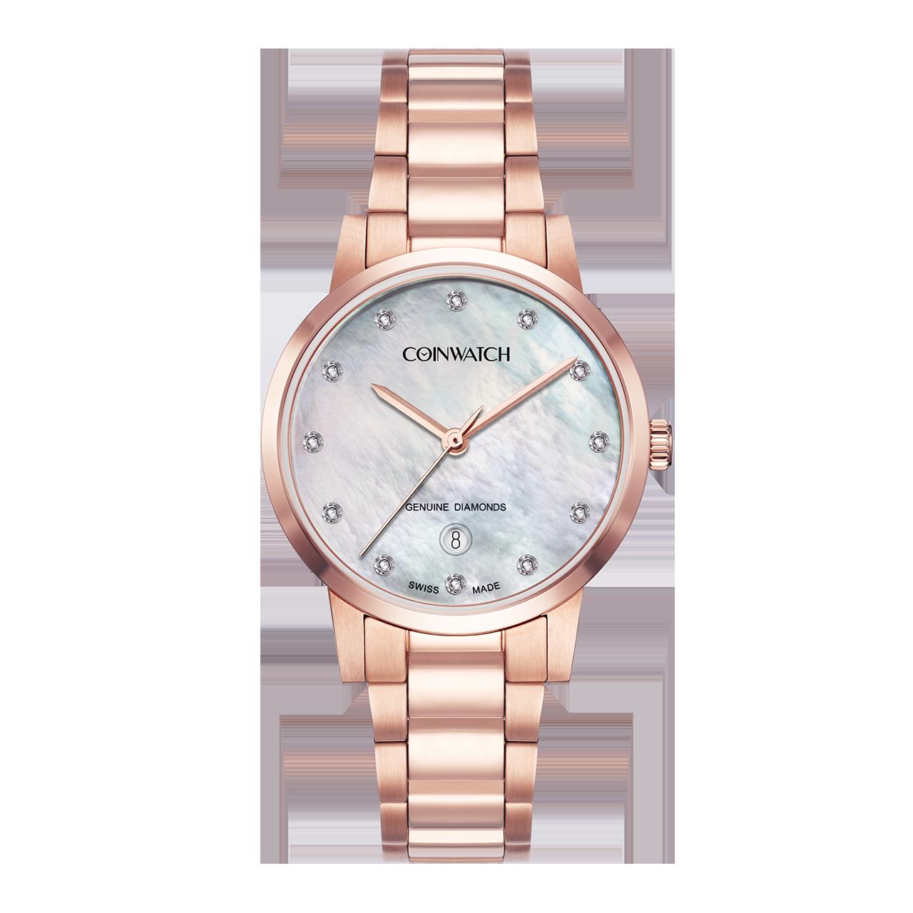 ساعت مچی عقربه ای زنانه کوین واچ مدل C180RWH 13