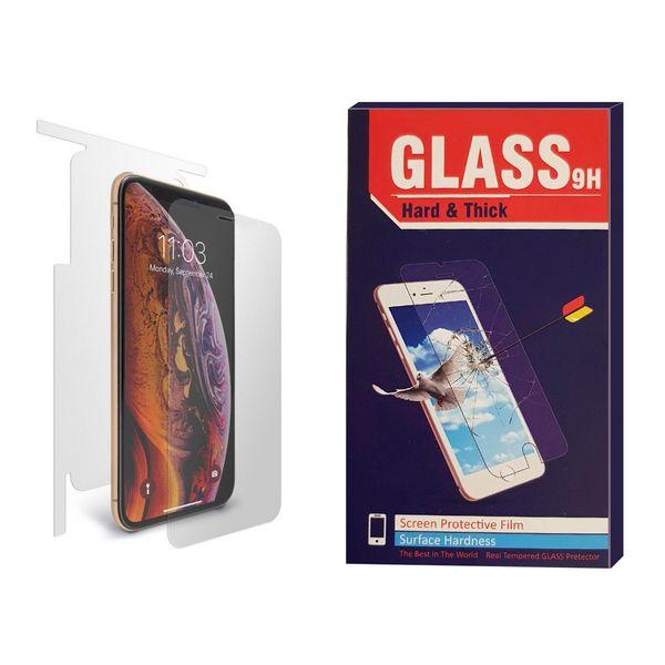 محافظ صفحه نمایش و پشت گوشی مدل Hard and thick BEST2 مناسب برای گوشی موبایل اپل Iphone X / XS