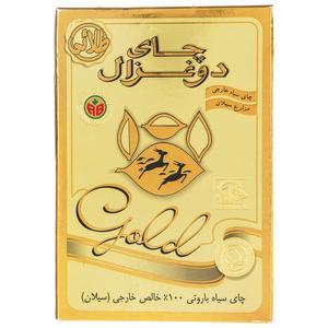 چای دو غزال طلایی مقدار 500 گرم