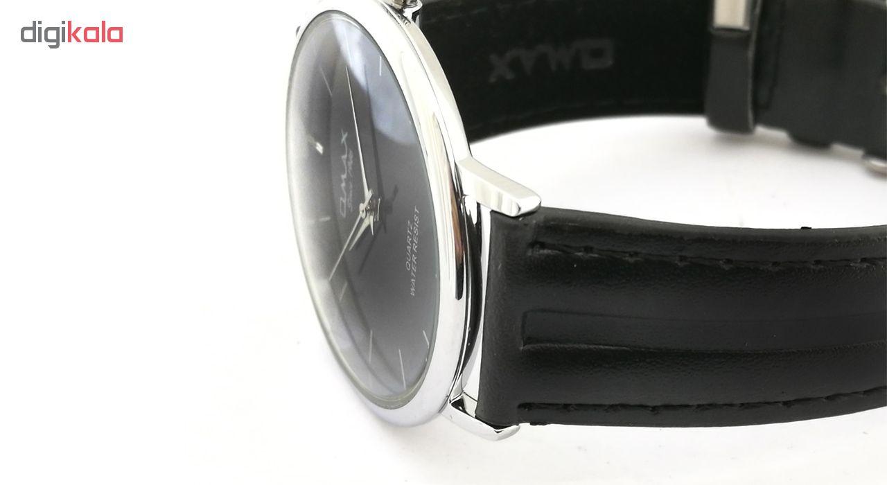 ساعت مچی عقربه ای مردانه اوماکس مدل 00SC7491IBD2 به همراه دستمال مخصوص برند کلین واچ