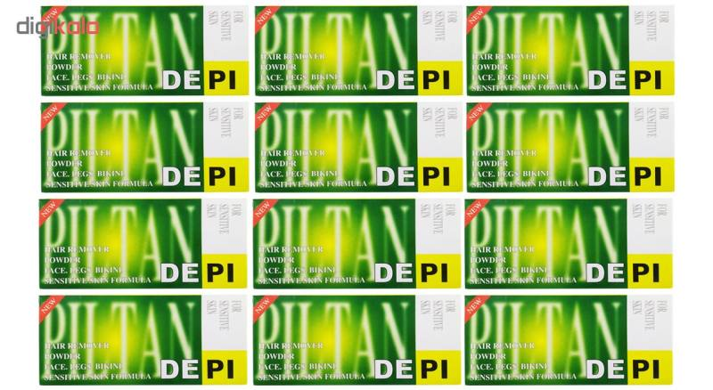 پودر موبر دپی مدل آپارتمانی با رایحه لیمو مقدار 50 گرمی بسته 12 عددی