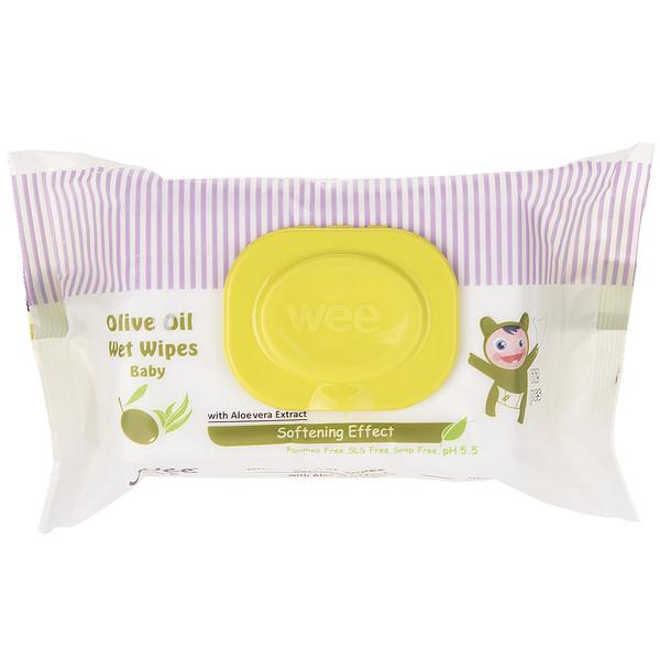 دستمال مرطوب کودک وی مدل Olive Oil بسته 72 عددی