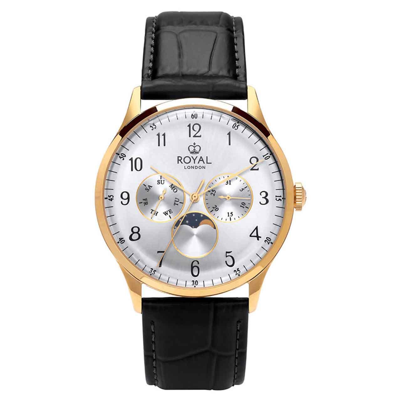 ساعت مچی عقربه ای مردانه رویال لندن مدل RL-41390-03 52