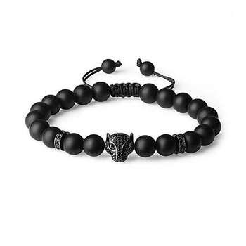 دستبند ذاریات طرح چشم گربه مدل Black_M کد 95