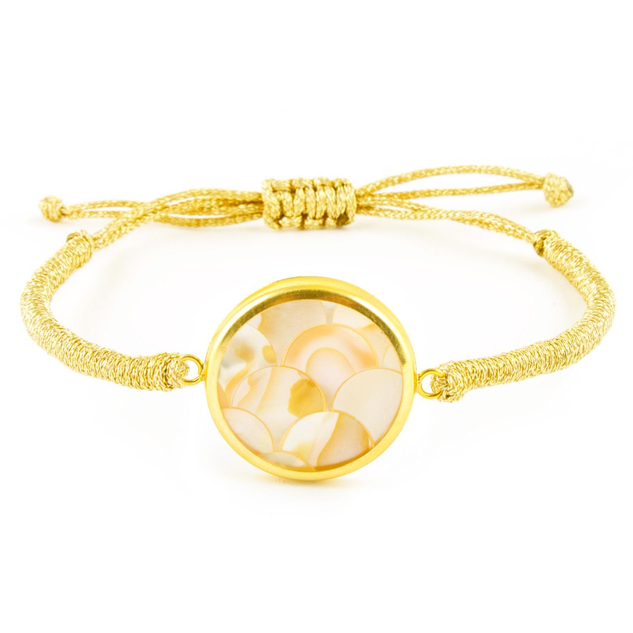 قیمت دستبند طلا 18 عیار زنانه ریسه گالری مدل Ri3-S1088-Gold