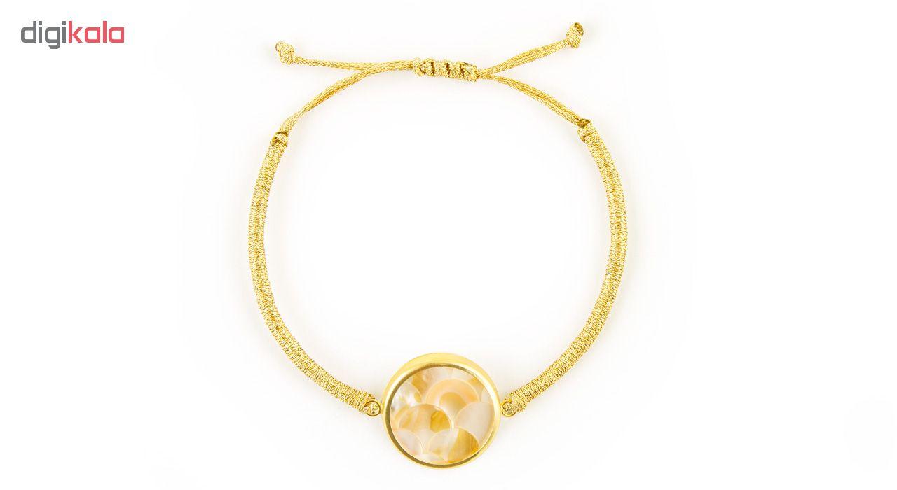 دستبند طلا 18 عیار زنانه ریسه گالری مدل Ri3-S1088-Gold