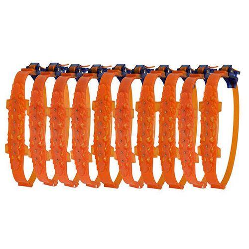 زنجیر چرخ کمربندی نانوسایبر  6 عددی نارنجی سایز رینگ 13-16