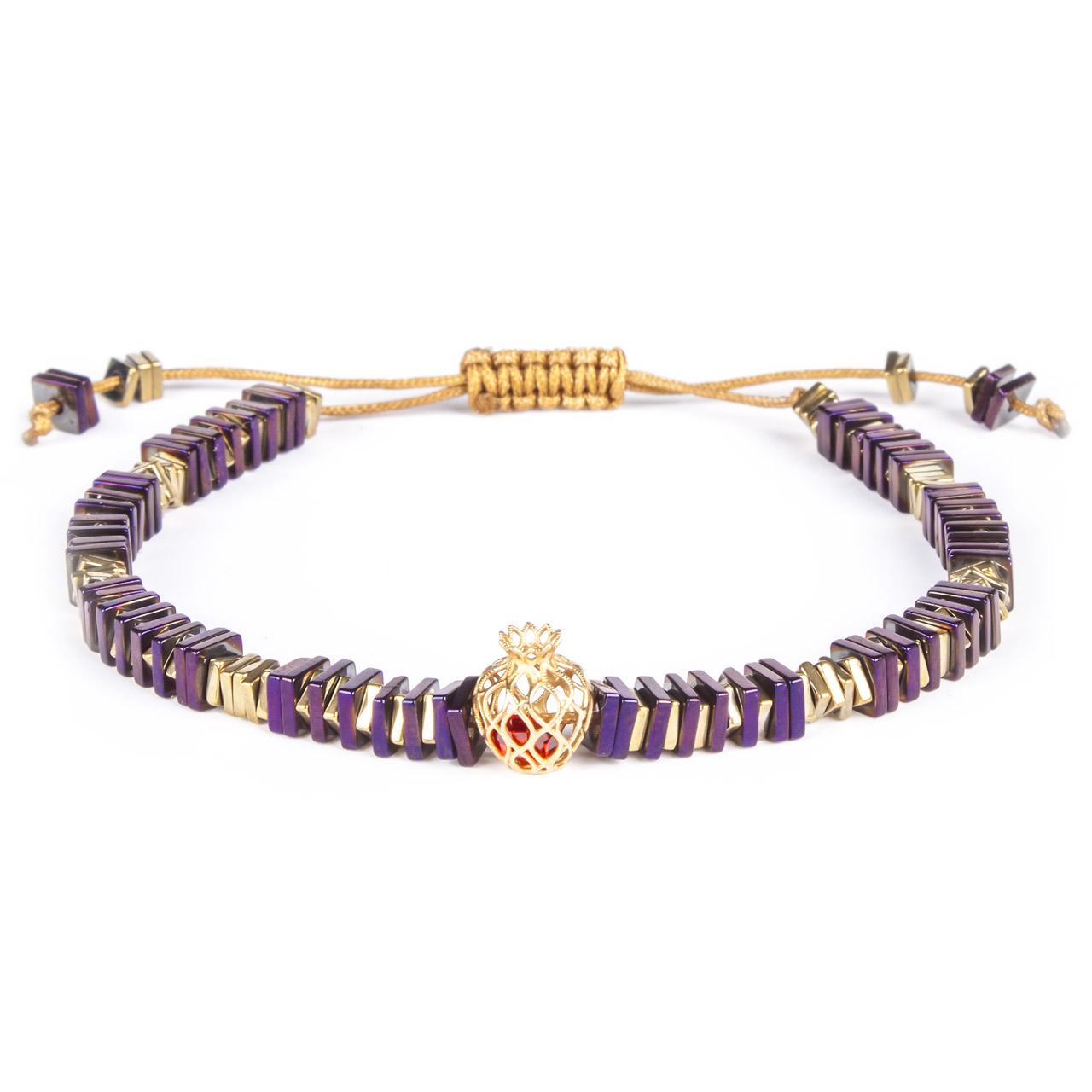 دستبند طلا 18 عیار زنانه ریسه گالری مدل Ri3-H1090-Gold