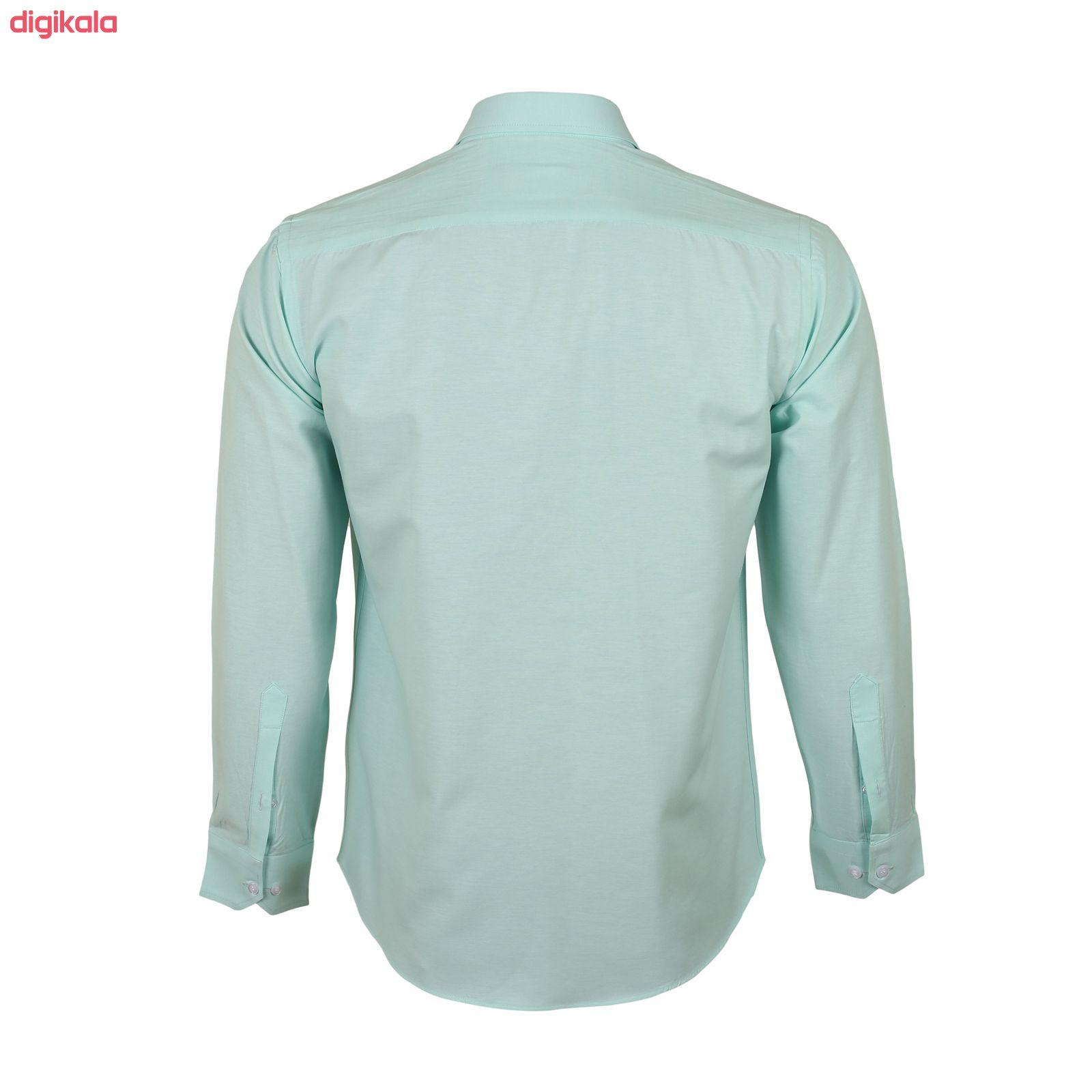 پیراهن آستین بلند مردانه ناوالس مدل NoX8020-GN main 1 3