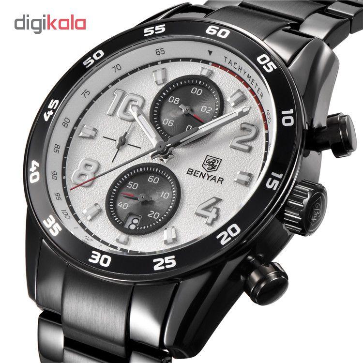 خرید ساعت مچی عقربه ای مردانه بنیار مدل 5126MW