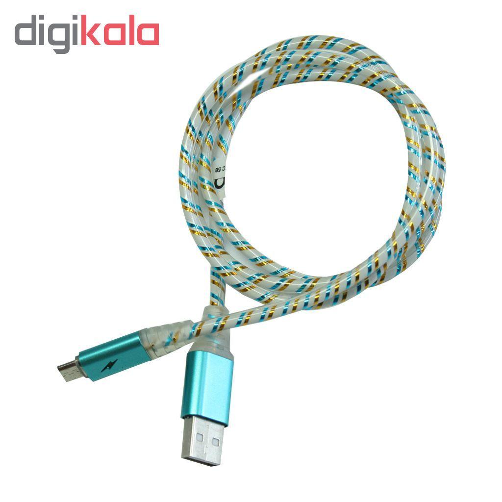 کابل تبدیل USB به microusb تسکو مدل TC 58 طول 1 متر main 1 1