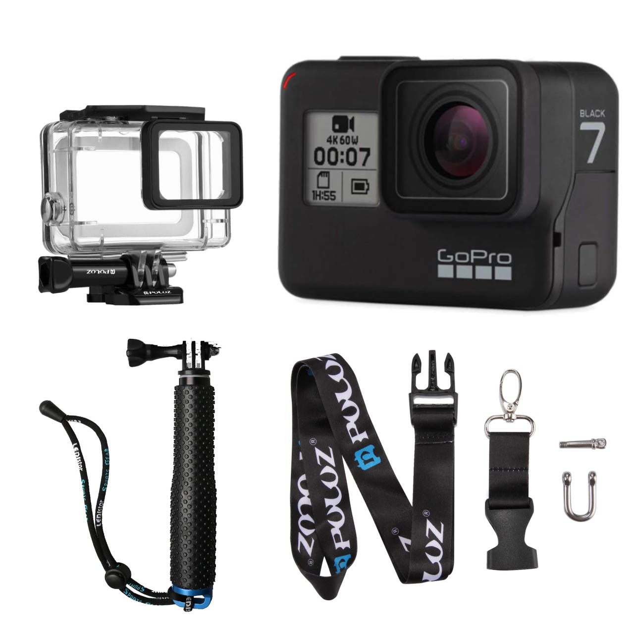 دوربین فیلم برداری ورزشی گوپرو مدل HERO7 Black Quick Stories به همراه لوازم جانی پلوز
