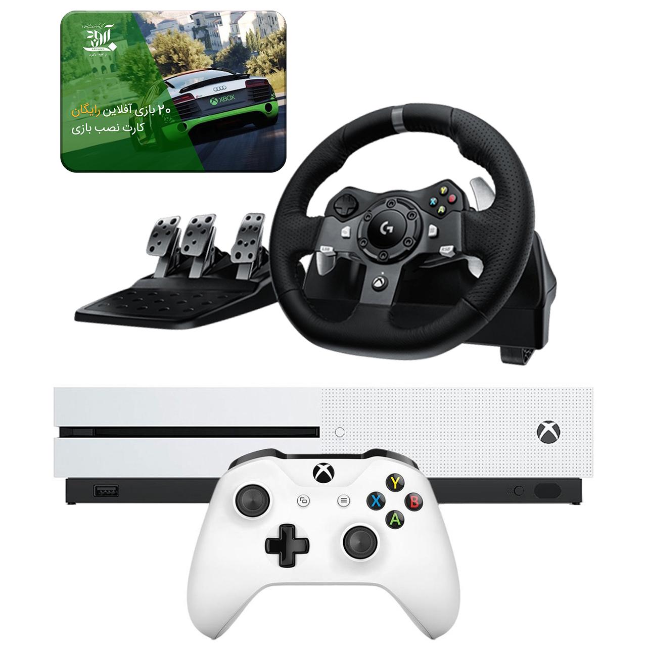 عکس مجموعه کنسول بازی مایکروسافت مدل Xbox One S ظرفیت ۱ ترابایت به همراه 20 عدد بازی