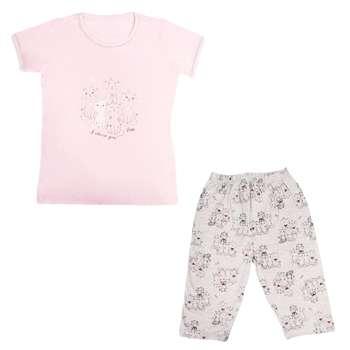 ست تیشرت و شلوارک زنانه کد Pink98 |
