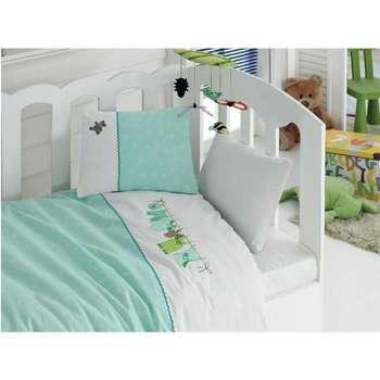 سرویس خواب 4 تکه کودک کاتن باکس  مدل   Boo Boo | Cotton Box Boo Boo Child Bedsheet Set 1 Person 4 Pcs