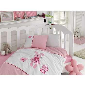 سرویس خواب 4 تکه کودک کاتن باکس  مدل  Tiny Pink Rabbit | Cotton Box Tiny Pink Rabbit Child Bedsheet Set 1 Person 4 Pcs