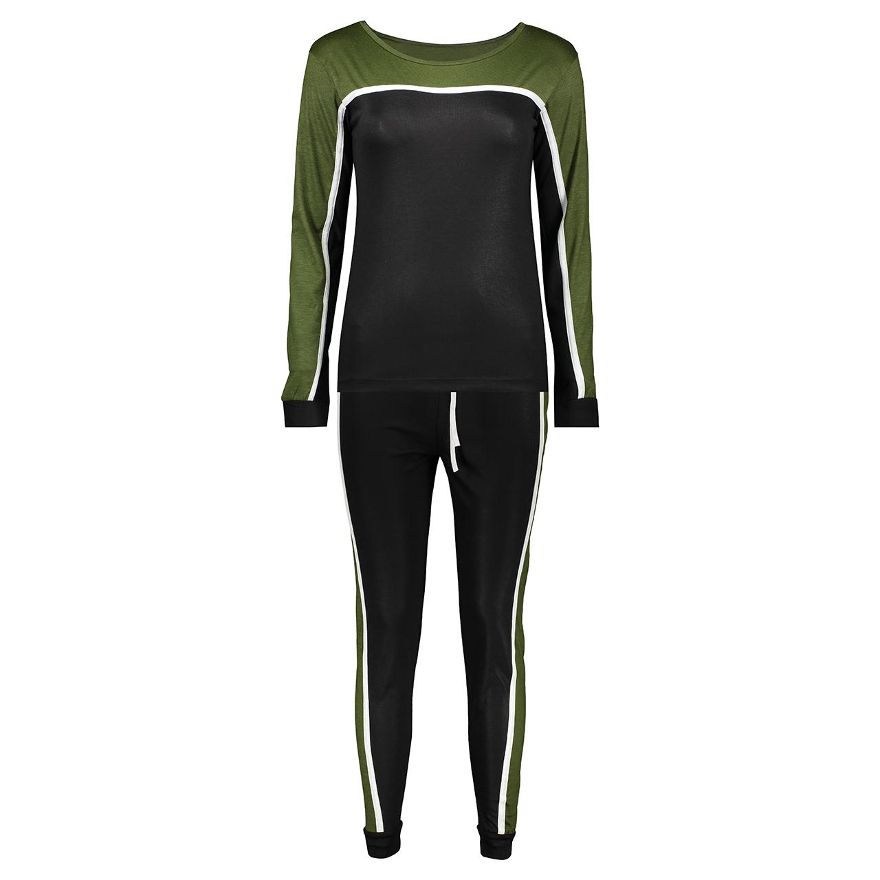 ست تی شرت و شلوار ورزشی زنانه کد 6047 | 6047 T-Shirt And Ttrousers Set For Women