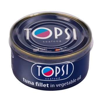 کنسرو ماهی فیله در روغن گیاهی تاپسی  - 180 گرم
