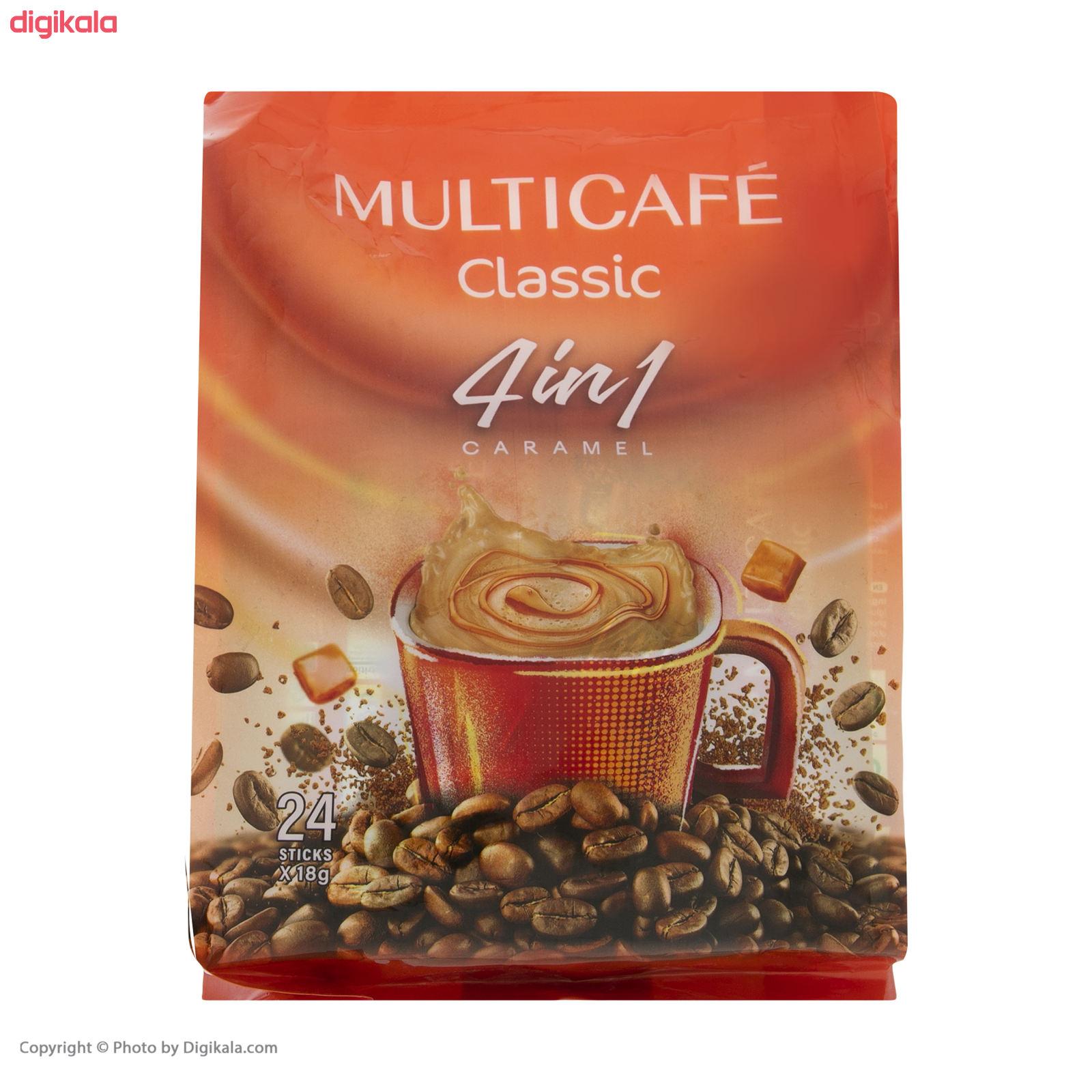 پودر قهوه فوری 1 × 4 کلاسیک مولتی کافه - 18 گرم بسته 24 عددی main 1 6