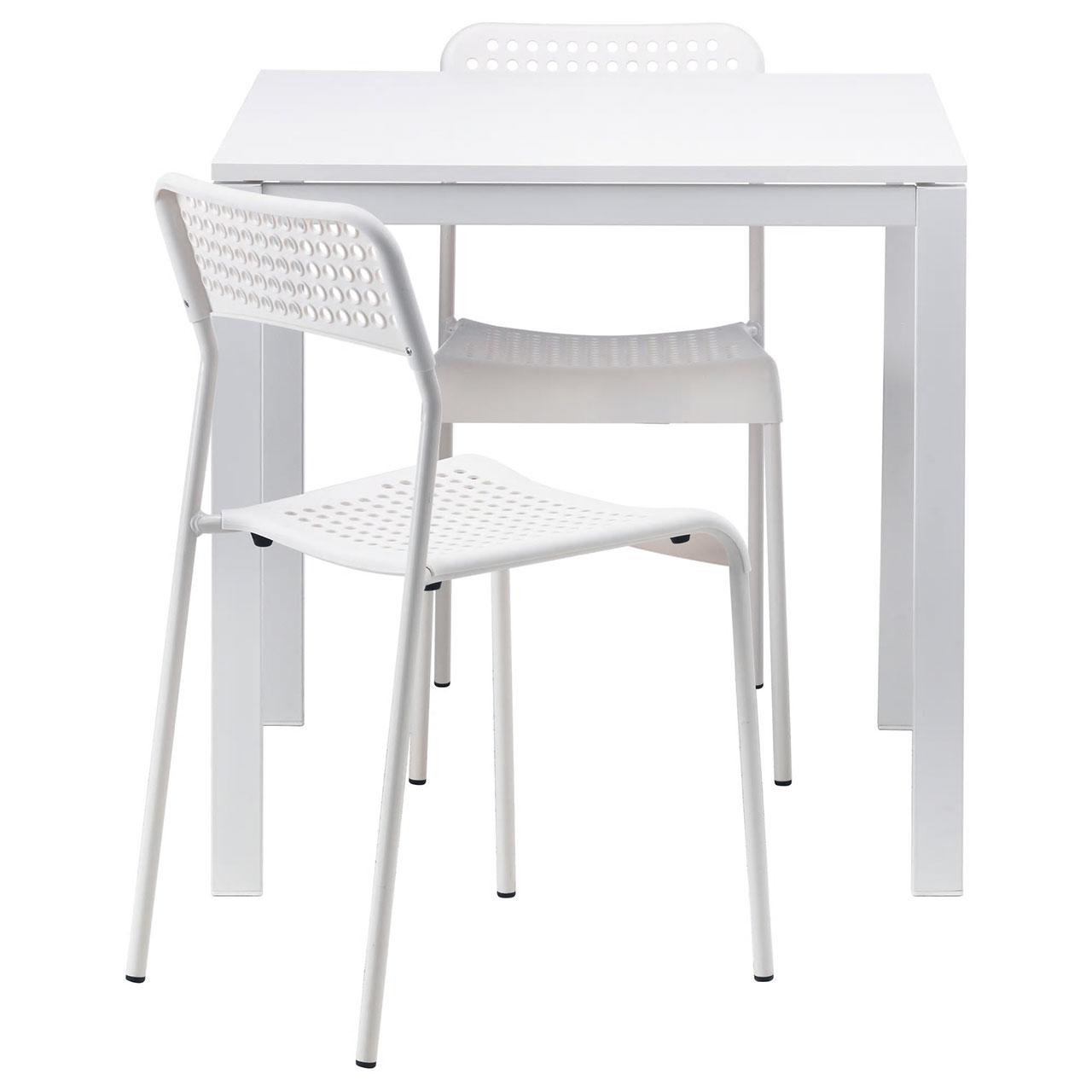 میز و صندلی ناهار خوری ایکیا مدل MELLTORP - ADDE