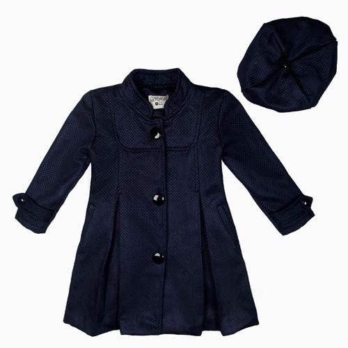 پالتو دخترانه مای کید مدل 2-3879 به همراه کلاه