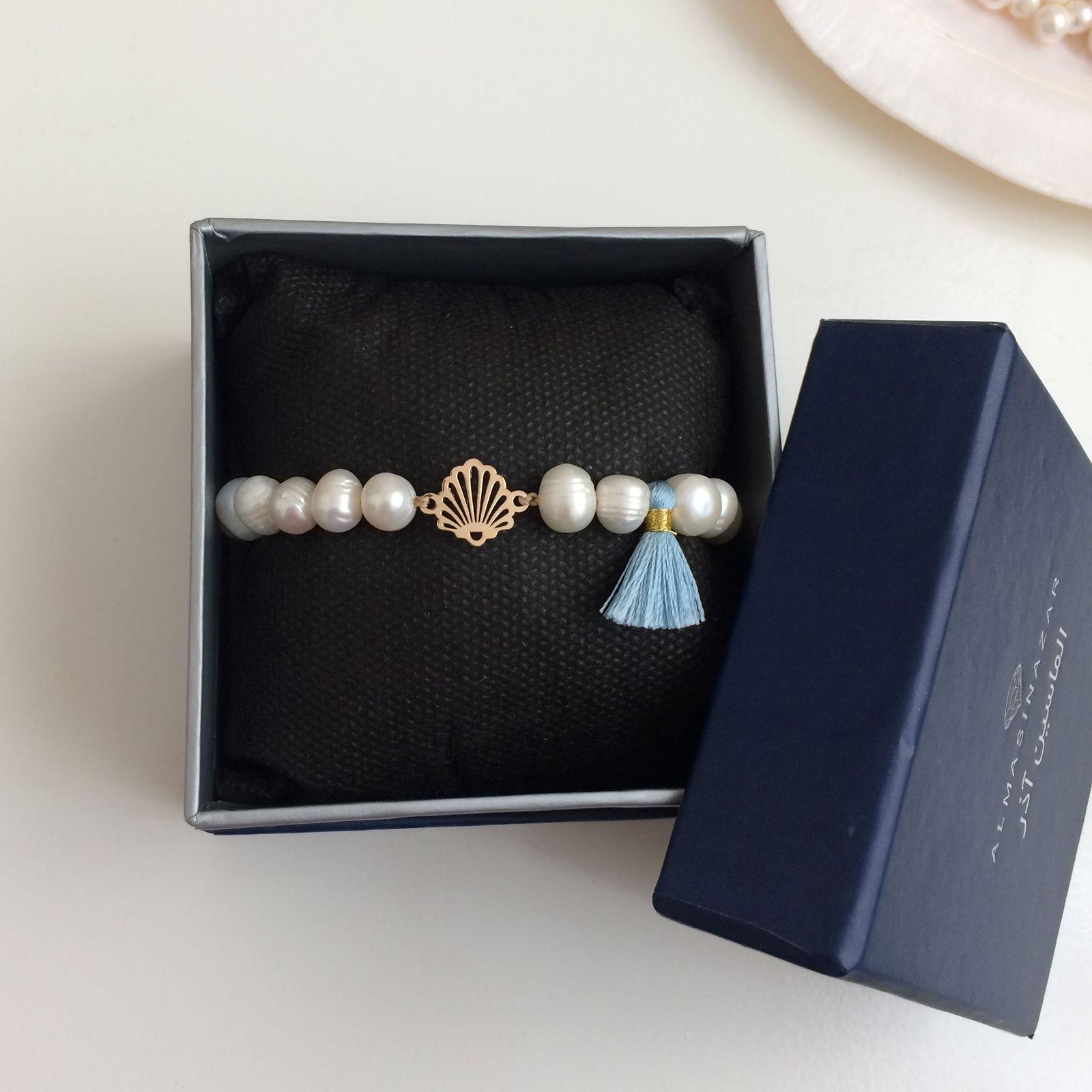 دستبند طلا 18 عیار زنانه الماسین آذر کد SADAF03 -  - 4