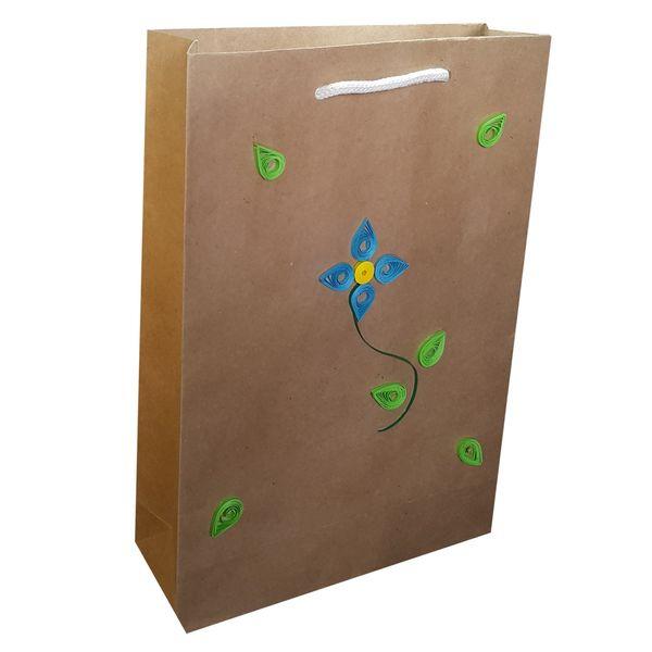 پاکت هدیه عمودی طرح گل ملیله MRK5