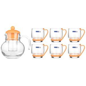سرویس چای خوری 7 پارچه لومینارک مدل Baloon Melon