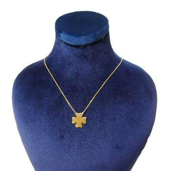 گردنبند طلا 18 عیار کانیار گالری طرح شبدر