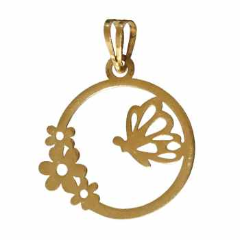 آویز گردنبند طلا 18 عیار کانیار گالری طرح پروانه