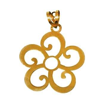 آویز گردنبند طلا 18 عیار کانیار گالری طرح گل