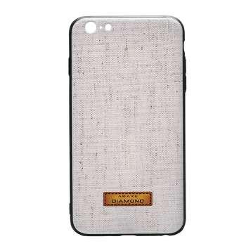 کاور دیاموند مدل Cream Fabric مناسب برای گوشی موبایل آیفون ۶ پلاس