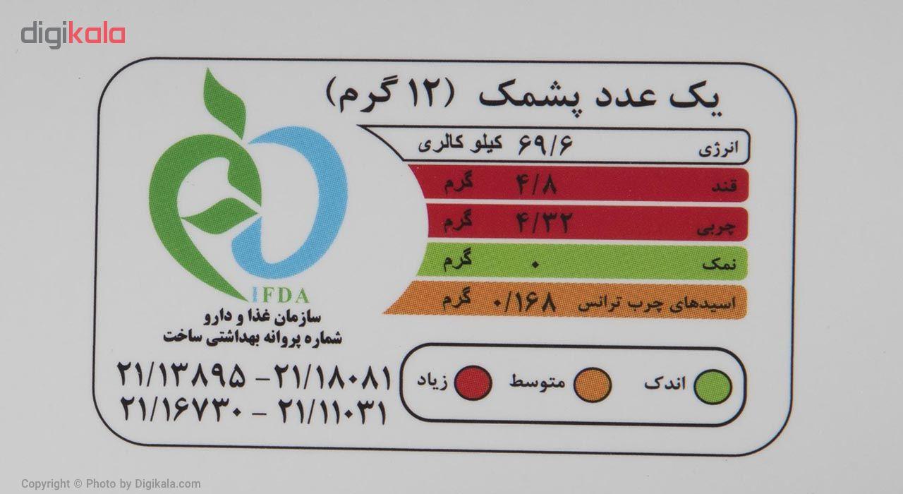 پشمک لقمه ای با روکش شیری و کاکائویی حاج عبدالله مقدار 300 گرم